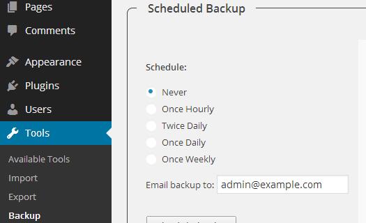 پلاگین WP-DB-Backup
