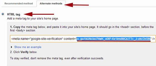 معرفی سایت به Google Webmaster Tools