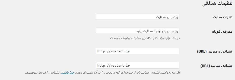 تنظیم URL وردپرس
