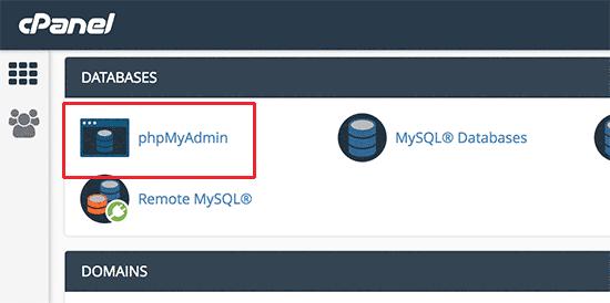 استفاده از phpmyadmin در سی پنل