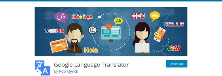 استفاده از پلاگیGoogle Language Translator برای ترجمه