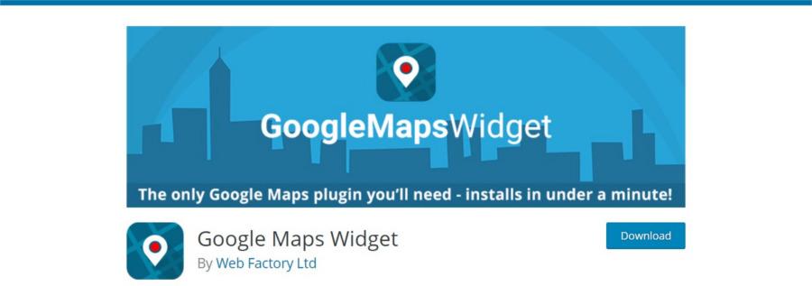 پلاگین گوگل مپ ویجت برای افزودن نقشه گوگل به سایت