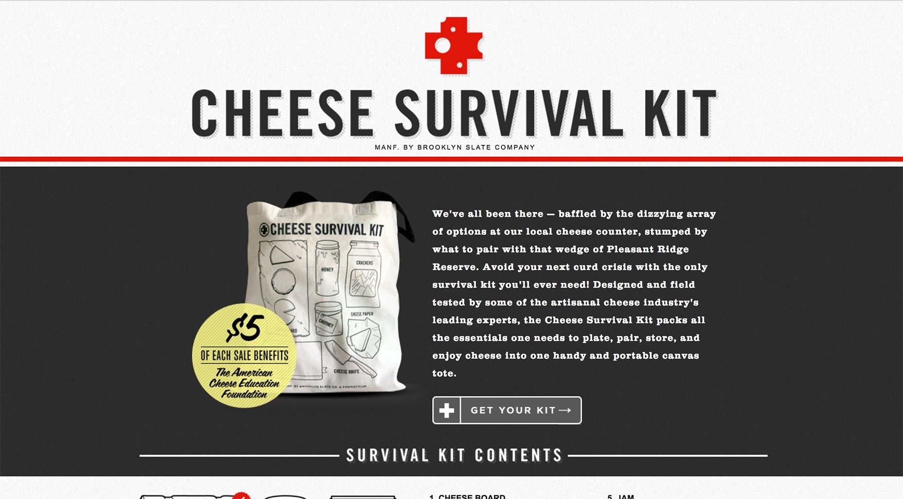 کنتراست رنگ cheese survival kit
