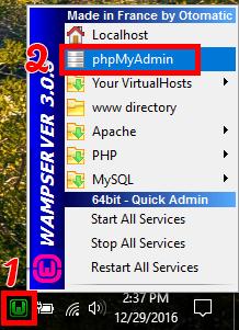 دسترسی به phpMyAdmin از طریق WAMP