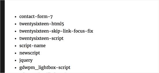 plugin script handles
