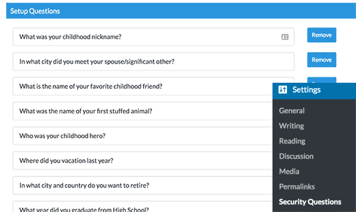پلاگین سوالات امنیتی در وردپرس