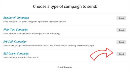 ایجاد کمپین RSS در لیست ایمیل