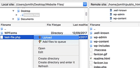 آپلود فایل ها بوسیلهftp در وردپرس