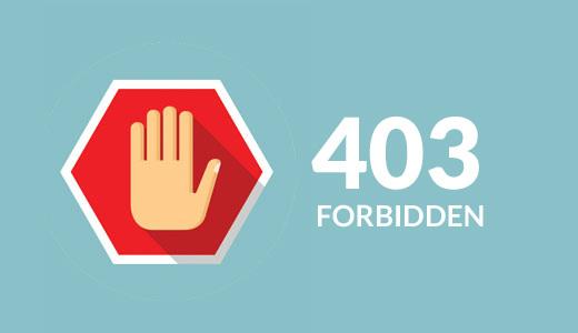 برطرف کردن 403 forbidden error