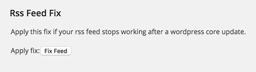 تنظیمات افزونه Fix My Feed RSS Repair در وردپرس