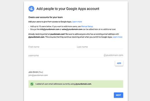 افزودن چند کاربر به اکانت ایمیل google app