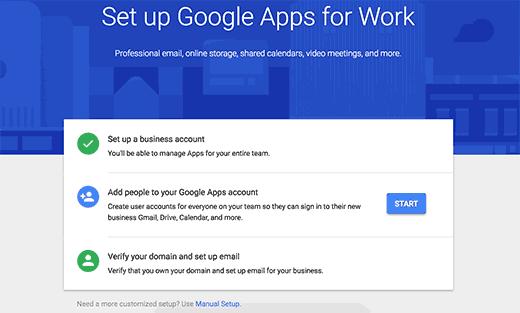 مراحل ساخت اکانتgoogle appبرای مدیریت ایمیل کاری