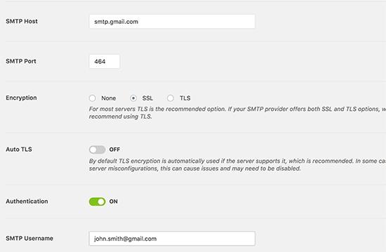 تنظیم جیمیل برای ارسال ایمیل وردپرس با SMTP