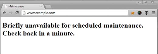 آموزش رفع ارور Briefly Unavailable for Scheduled Maintenance