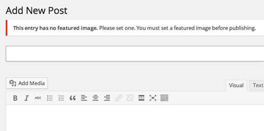 آموزش استفاده از Required Featured Image در وردپرس