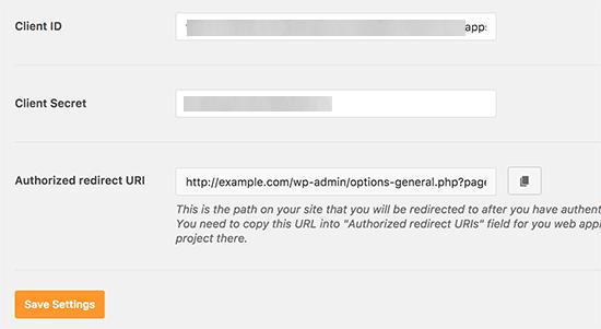 آموزش تنظیم api برای اکانت جیمیل در وردپرس