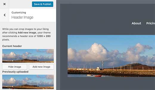 اضافه کردن header به تصاویر در وردپرس