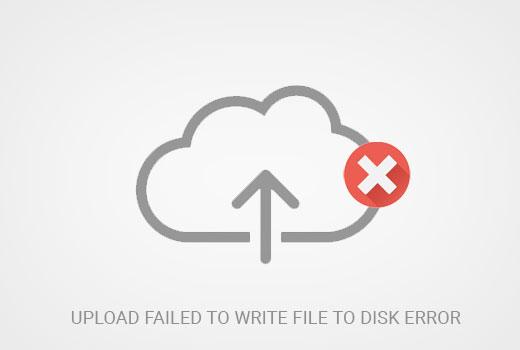 برطرف کردن ارور نوشتن فایل روی دیسک با شکست مواجه شد