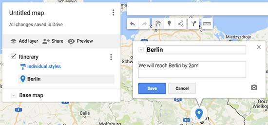 افزودن جزئیات به نقشه گوگل