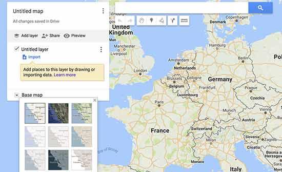 ویرایش نقشه گوگل برای سایت