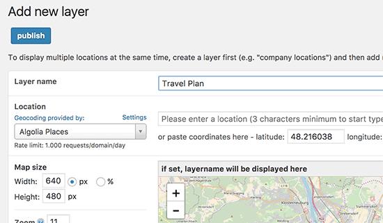 ایجاد لایه نقشه با افزونه Maps Marker Pro