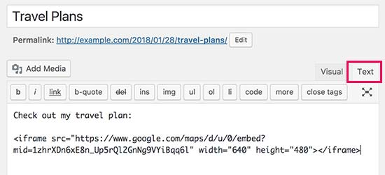 آموزش قرار دادن نقشه گوگل در سایت وردپرس