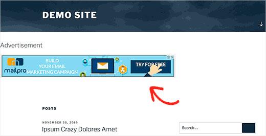 اضافه کردن ویجت در هدر وبسایت