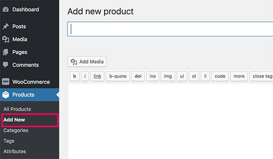افزودن محصول به فهرست محصولات در وردپرس