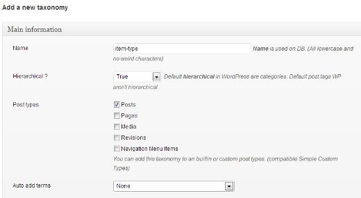 ایجاد طبقه بندی سفارشی برای سایت وردپرس