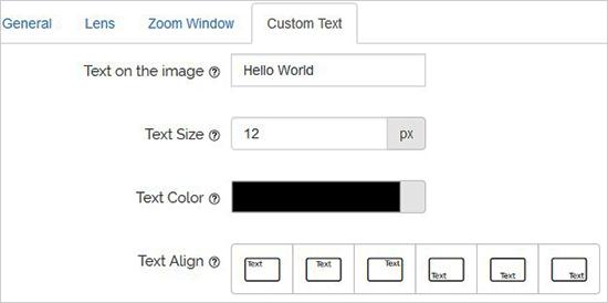 تنظیمات پلاگین WP Image Zoom