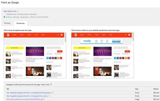 نحوه نمایش سایت برای گوگل و کاربر