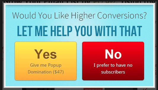 تاثیر پاپ آپ ها بر افزایش نرخ پرش کاربران در سایت