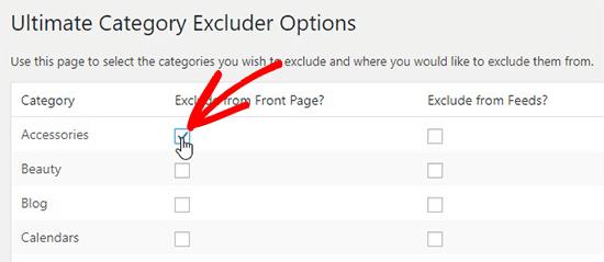 نحوه حذف یک دسته از صفحه اصلی وردپرس