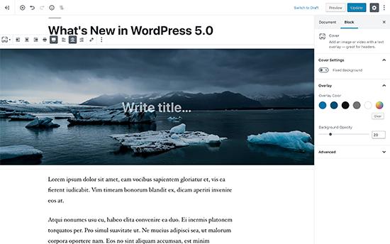 در وردپرس 5.0 چه چیزهایی جدید است (ویژگی ها و تصاویر)