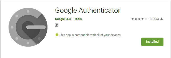 اپلیکیشن Google Authenticator