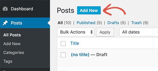 ایجاد یک پست جدید