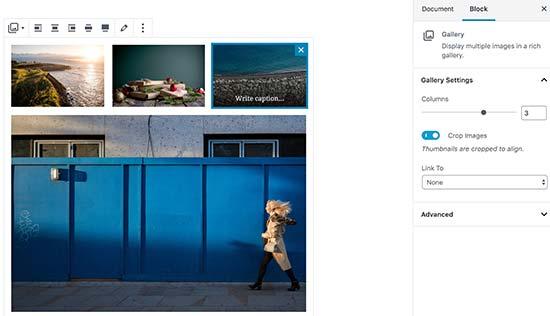 اضافه کردن گالری تصویر در ویرایشگر جدید وردپرس