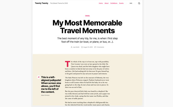 طرح پست وبلاگ در بیست بیست